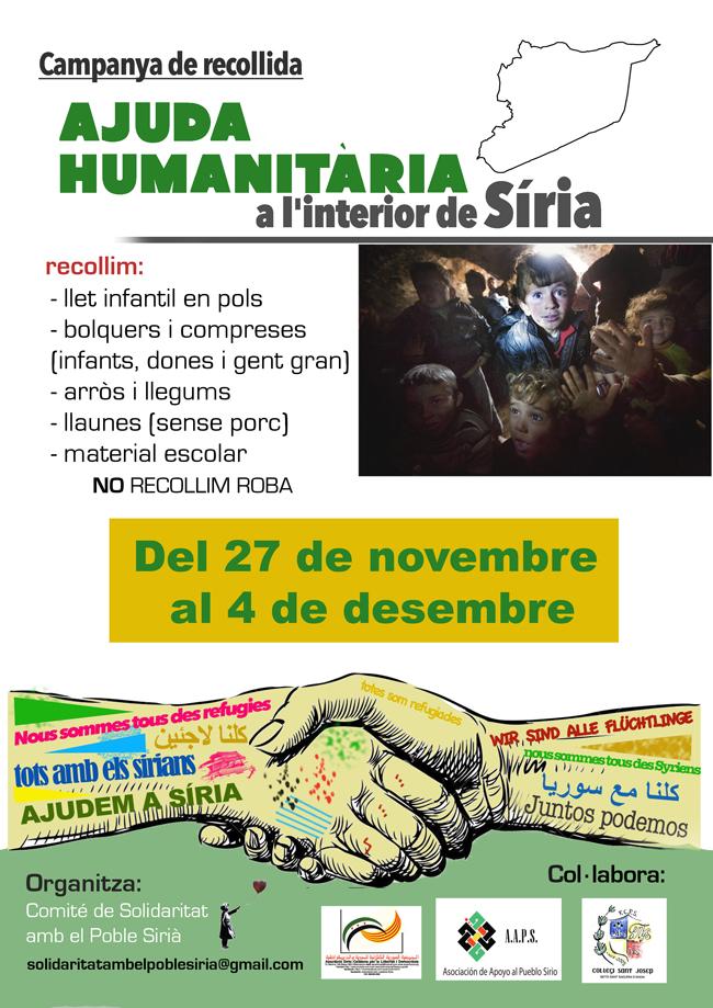 Wcampanya ajuda humanitària siria